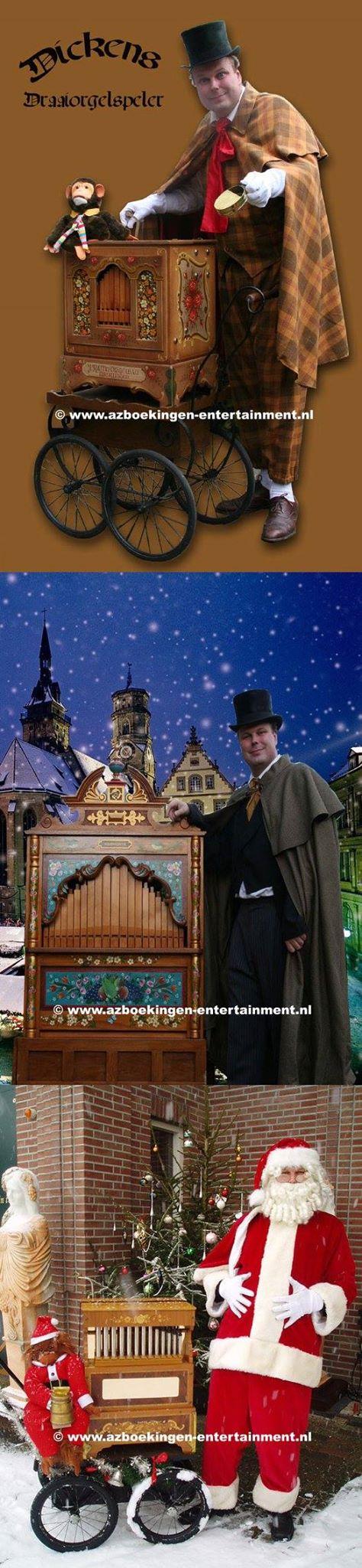 Dickens Draaiorgel of Kerstman Draaiorgel