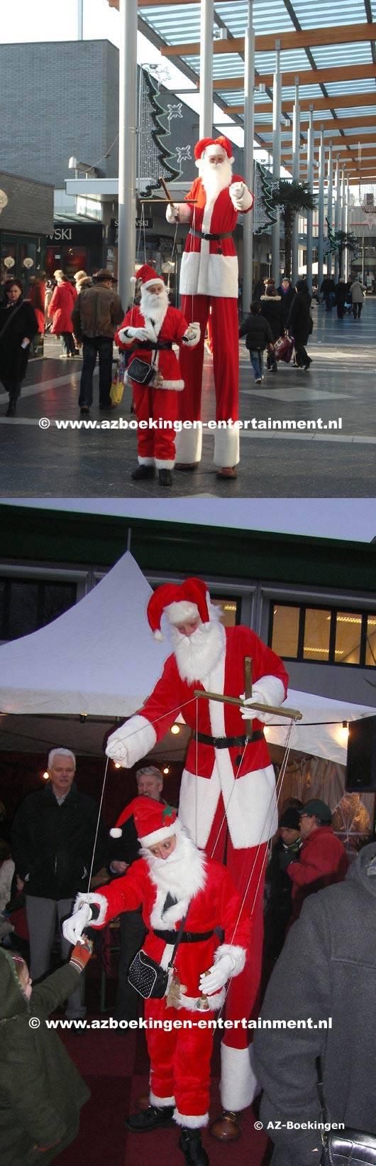 Kerstmarionette-Kerstman op Stelten