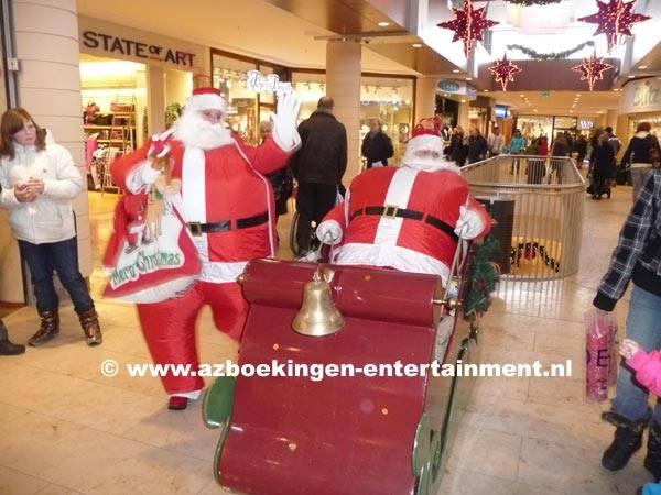Kerstmannen op pad