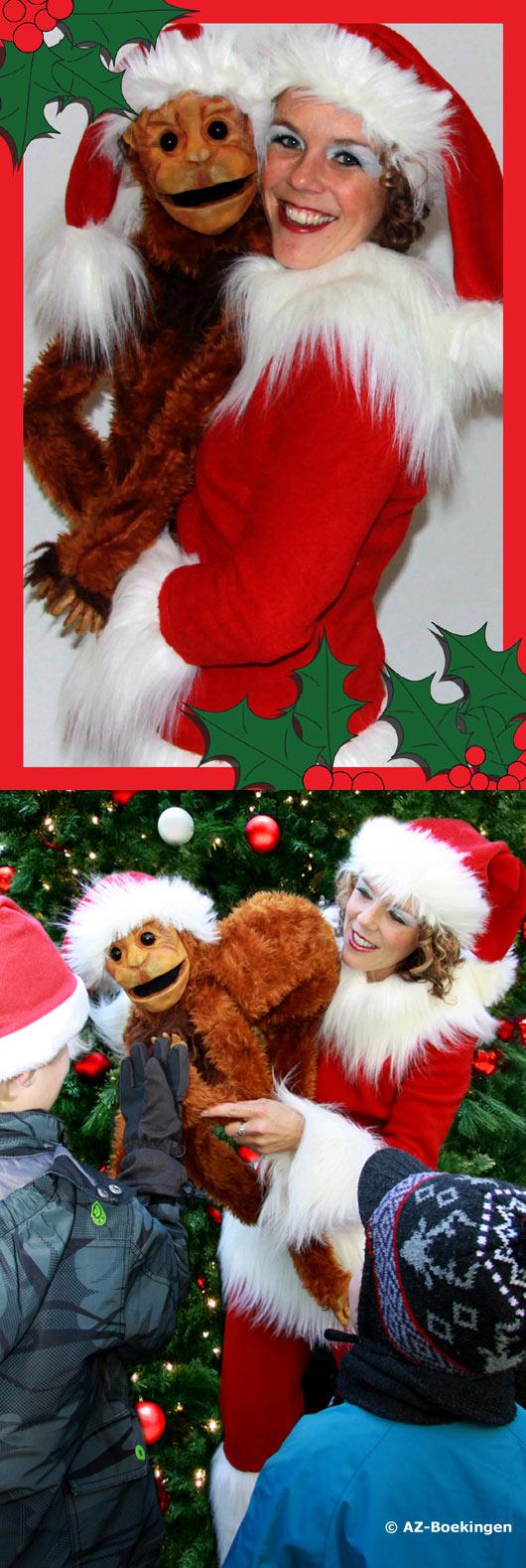 Kerstvrouw met aapje