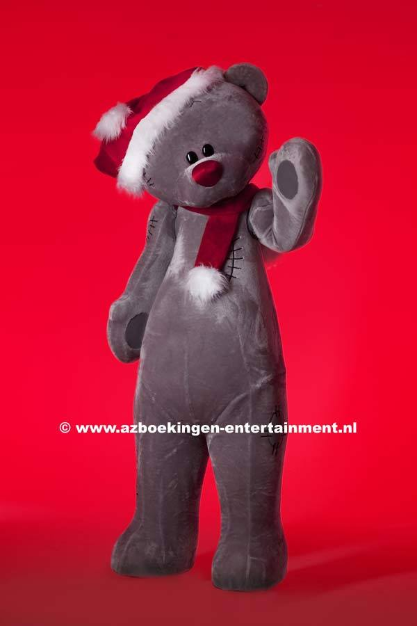 (Kerst)-Knuffelbeer op stelten