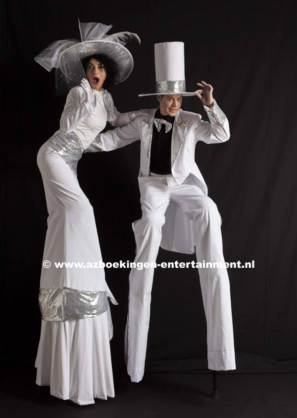 Mister and Miss White op Stelten