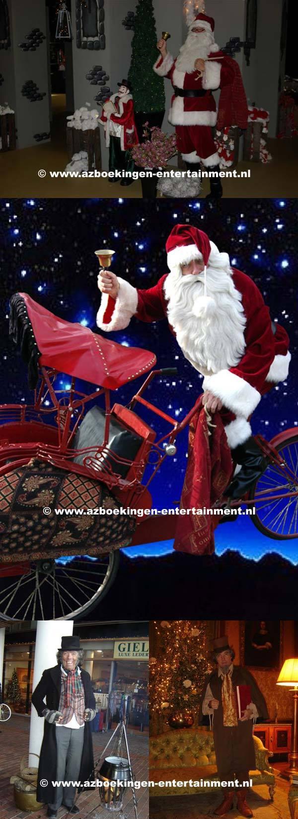 Scrooge kastanjepoffer - Kerstman op Riskja, Kerstman en of Scrooge verhalenverteller