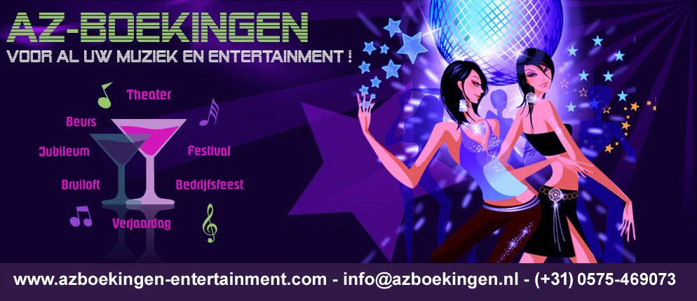 AZ-Boekingen, voor het boeken van al uw entertainment !